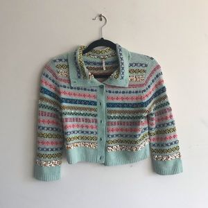 Rare Free People Crop Cardigan, Size M